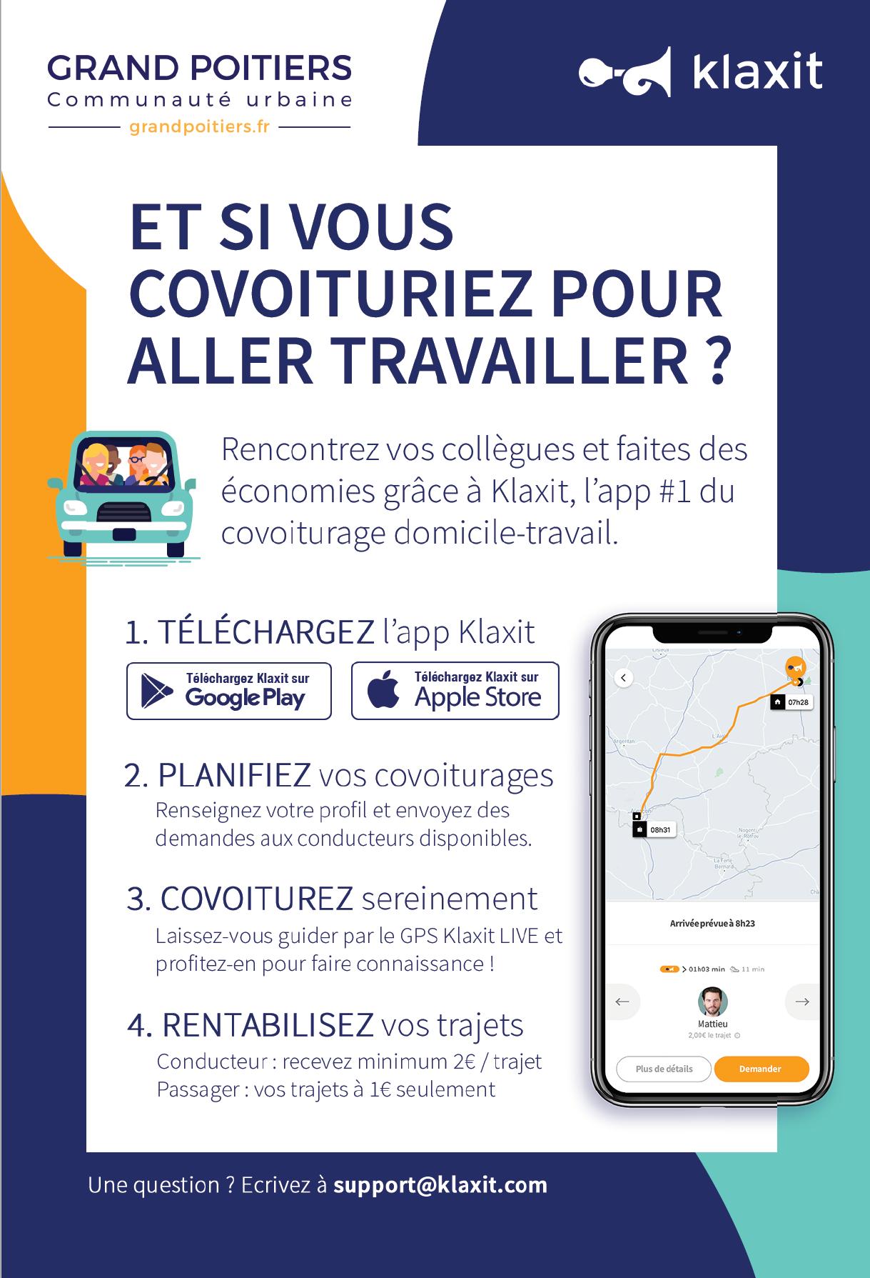 Grand Poitiers – Covoiturage domicile travail
