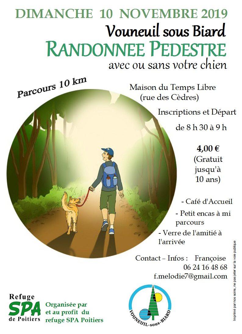 6éme randonnée pédestre au profit du refuge SPA de Poitiers